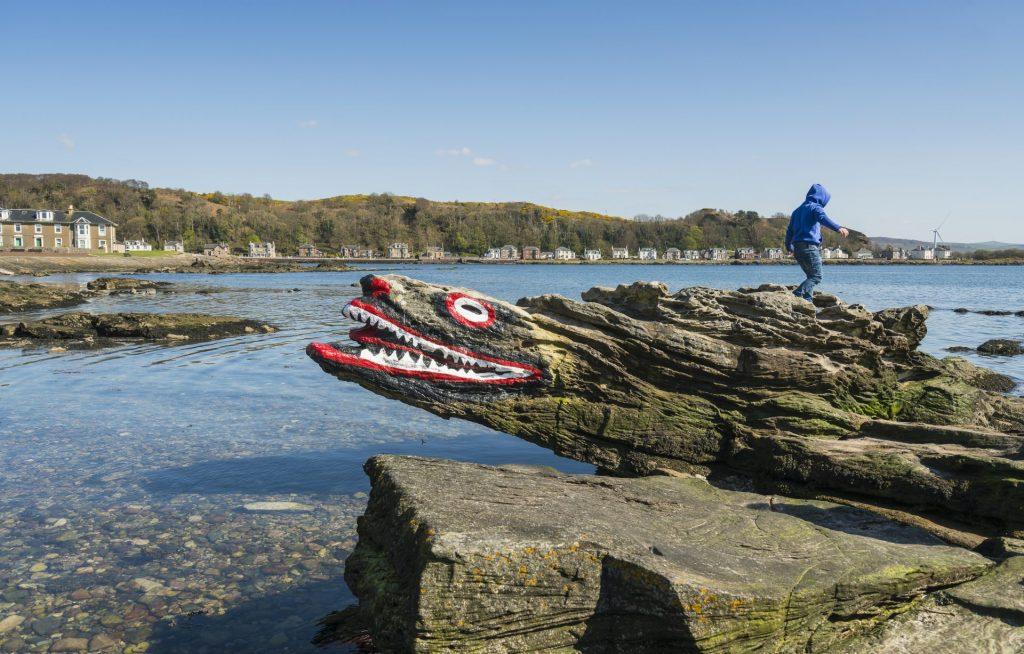 Crocodile Rock on the isle of Greater Cumbrae